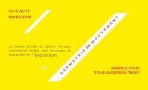 exposition géométrie en mouvement, galerie lehalle