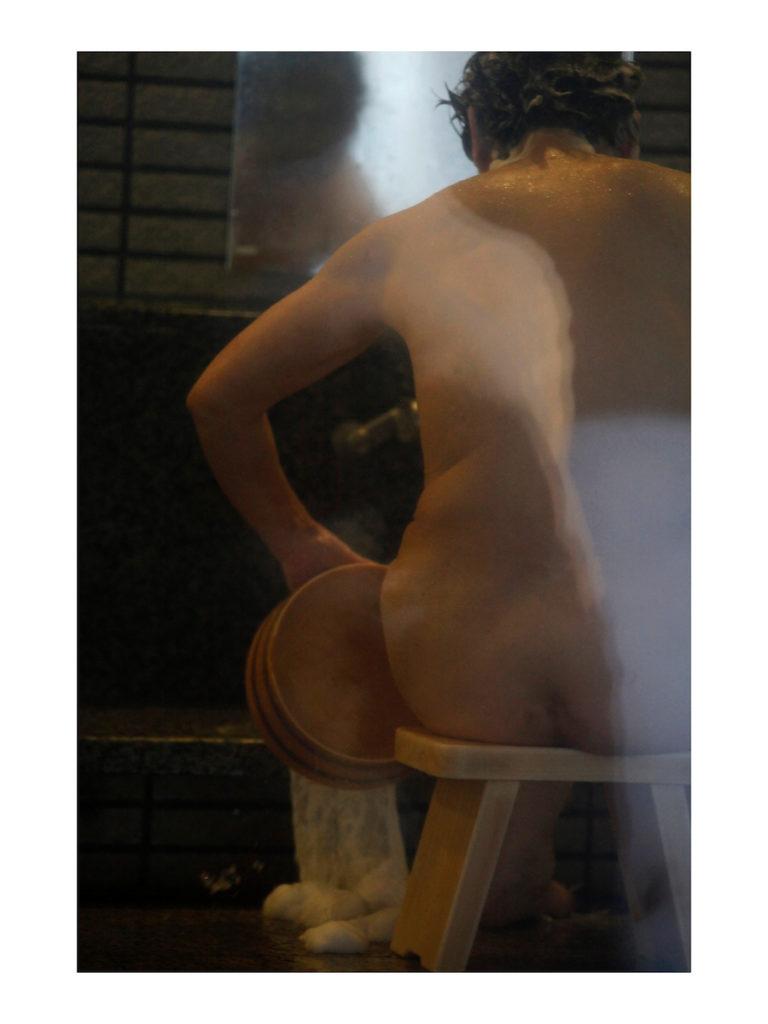 Véronique Durruty, Femme à sa toilette, hommage à Edgar Degas, 2013, 30 x 40 cm, tirage sur papier fine art en pur coton, exposition galerie lehalle