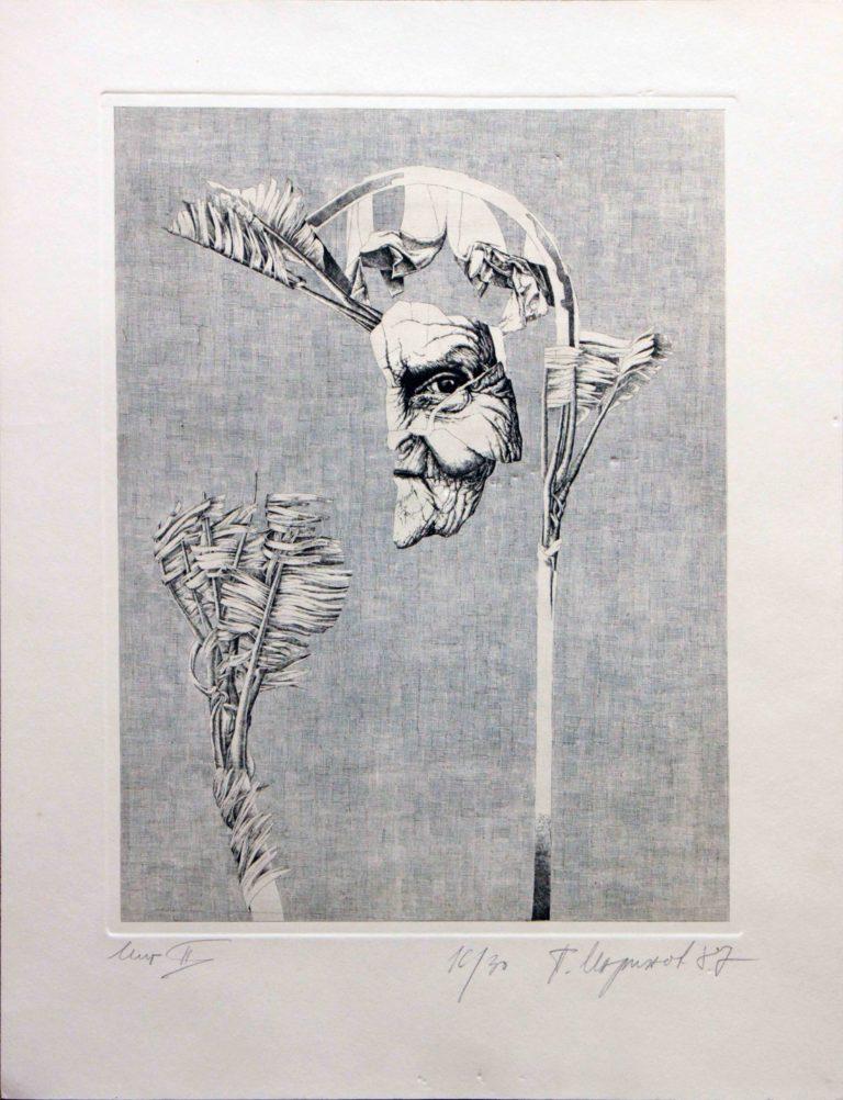 Marinov Peter, Instant II, 16I30, 1987, 30 x 39 cm, Gravure, exposition galerie lehalle